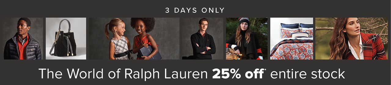 The World of Ralph Lauren - 25% off entire stock - 3 days only