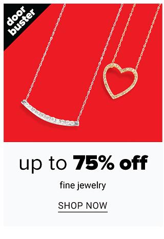 A silver & diamond pendant necklace & a gold & diamond pendant necklace. Doorbuster. Up to 70% off fine jewelry. Shop now.