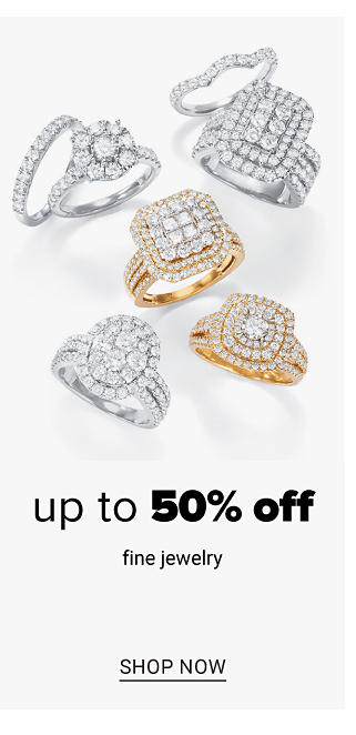 An assortment of gold & diamond & silver & diamond rings. Up to 50% off fine jewelry. Shop now.