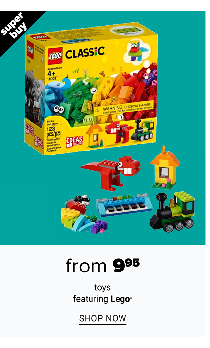 An assortment of Lego toys. Super Buy. From $9.95 toys featuring Lego. Shop now.