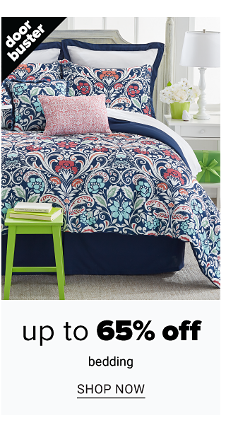 A bed made with a multi colored paisley print comforter & matching pillows. Doorbuster. Up to 65% off bedding. Shop now.