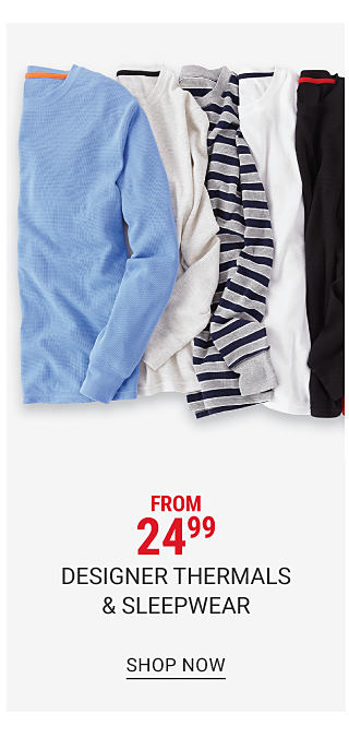 An assortment of long sleeved thermal shirts in a variety of colors & prints. From 24.99 designer thermals & sleepwear. Shop now.