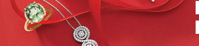 An assortment of gold, silver & diamond fine jewelry rings & pendant necklaces.