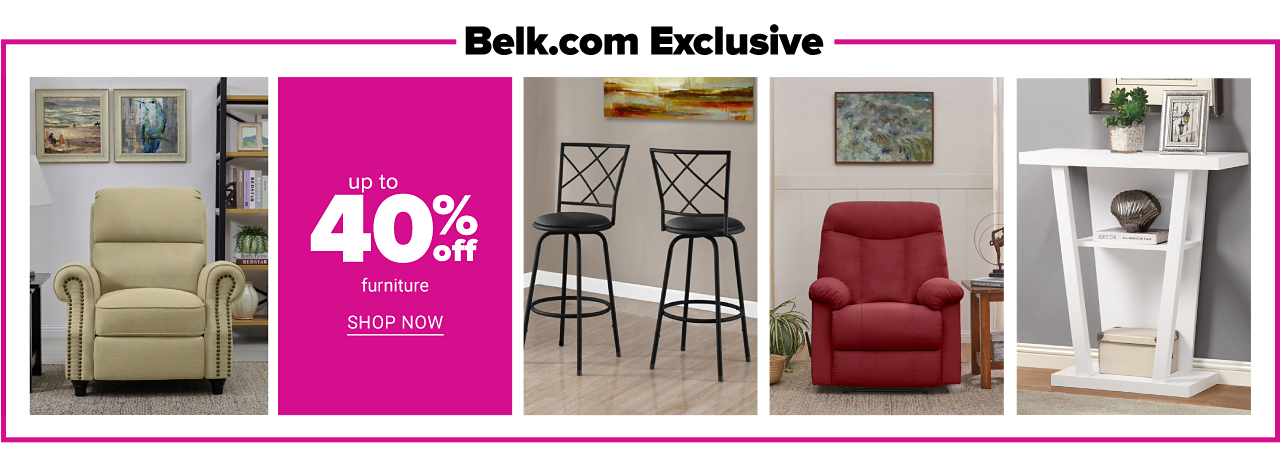 Up to 40% off furniture. Shop Now.