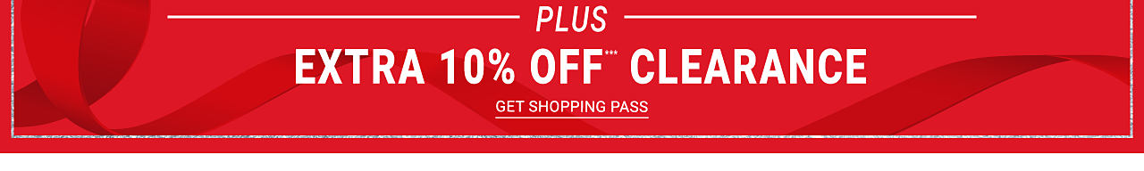 This weekend only! In store and online. Cyber Doorbusters. Up to 80% off shop all Doorbusters. Plus extra 10% off clearance purchases. Get shopping pass.