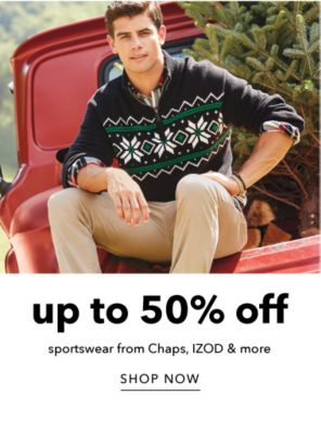 Up to 50% off Sportswear from Chaps, IZOD & more - Shop Now