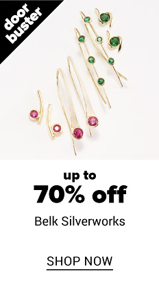 An assortment of gold tone & red gem stone & gold tone & green gem stone earrings & bracelets. Doorbuster. Up to 7% off Belk Silverworks. Shop now.