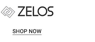 The Zelos logo. Shop now.