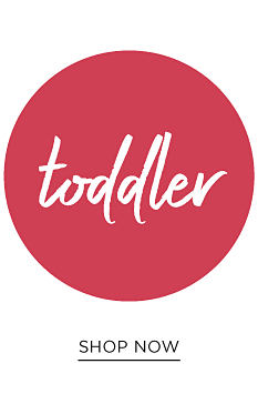 A toddler girl wearing a powdser blue top with a multi-colored Oh What Fun front graphic, pink leggings with blue dots & white sneakers. Toddler girls. Shop now.