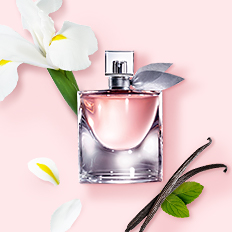 A bottle of fragrance. Shop Fragrances.