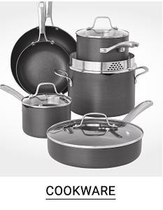 A six piece cookware set. Cookware.