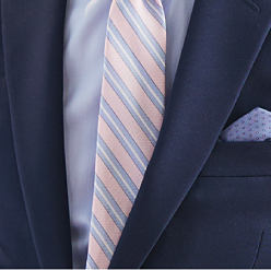 5755d6001186 Ties & Pocket Squares · Four men wearing different colors & styles of  suits, dress shirts & ties. Men's