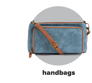 A denim blue wallet purse with a brown leather strap and details. Handbags.