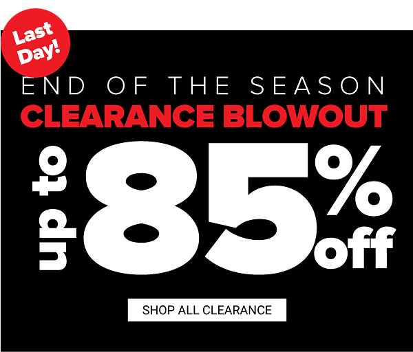 End of the season clearance blowout - Up to 85% off. Shop Clearance.