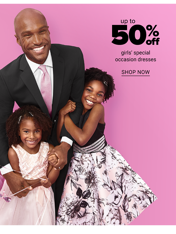 Up to 50% off girls' special occasion dresses. Shop Now.
