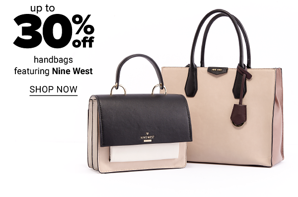 Up to 30% off handbags featuring Nine West. Shop Now.