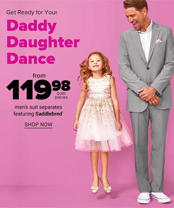 Get Ready for your Daddy Daughter Dance - men's suit separates featuring Saddlebred from 119.98. Shop Now.