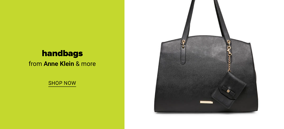 A black Anne Klein handbag, with a small coin purse attached by a gold chain. Handbags from Anne Klein and more. Shop now.