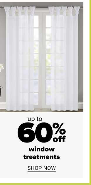 White sheer curtains. Up to 60% off window treatments. Shop now.