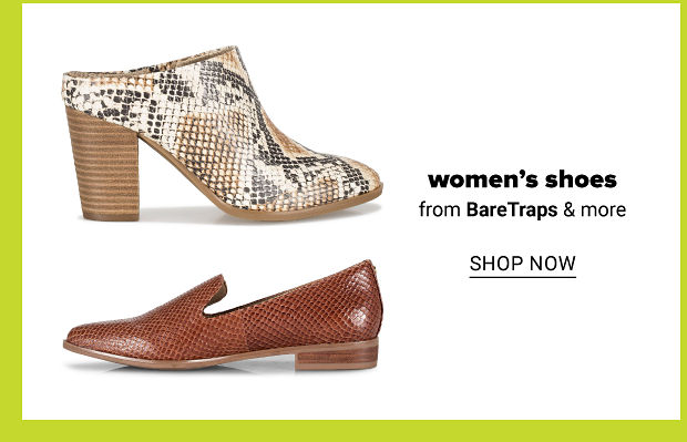 BareTraps tan Caitee Mules and brown Gyanna Posture Plus Loafers. Women's shoes from BareTraps and more. Shop now.