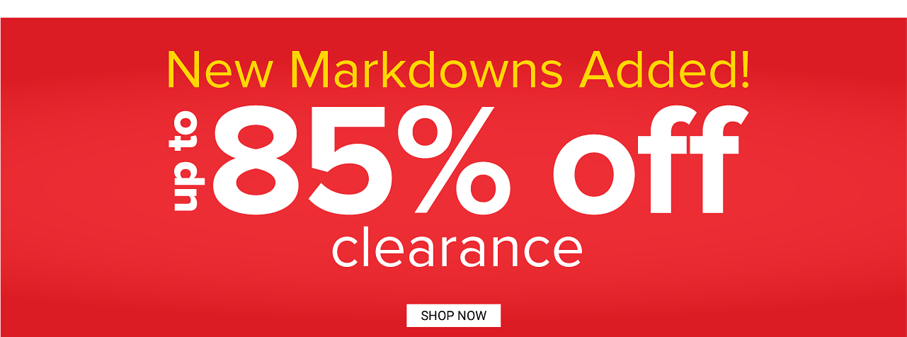 Clearance. Up to 80% off. Shop now.