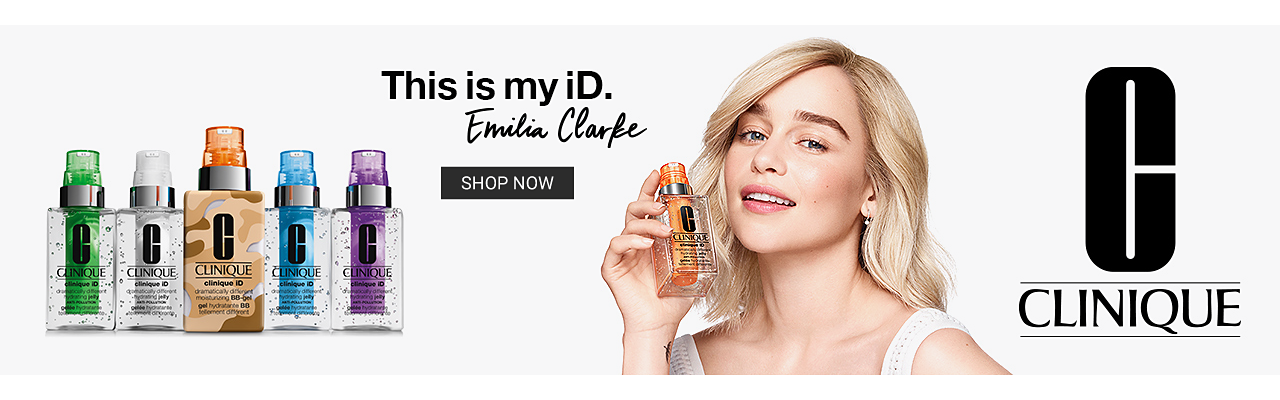 This is my iD Emilia Clarke Clinique. Shop Now.