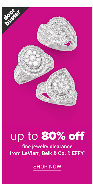 An assortment of diamond & silver rings. Doorbuster. Fine Jewelry Clearance featuring LeVian, Belk & Co & Effy. Up to 80% off. Shop now.