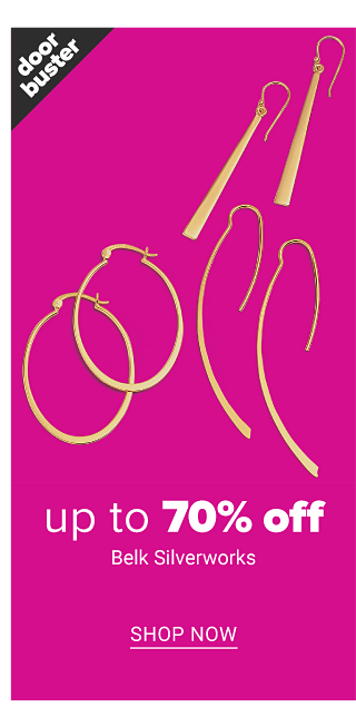 An assortment of gold tone earrings. Doorbuster. Up to 70% off Belk Silverworks. Shop now.