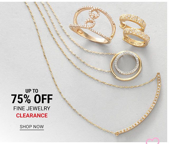 An assortment of gold & diamond rings, earrings & necklaces. Fine Jewelry Clearance. Up to 75% off. Shop now.