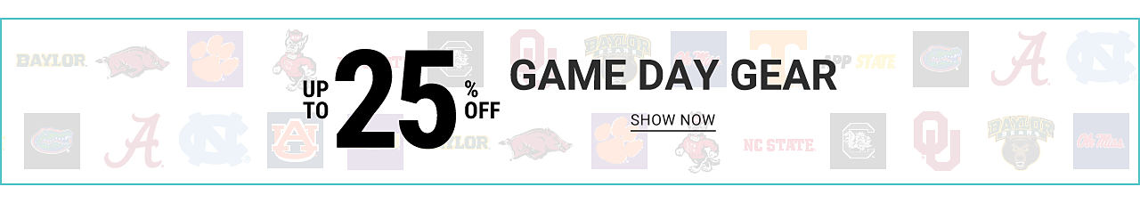 Up to 25% off Game Day Gear. Shop now.