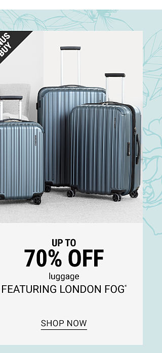 A gray 3 piece hardside wheeled luggage set. Bonus Buy. Up to 70% off luggage featuring London Fog. Shop now.