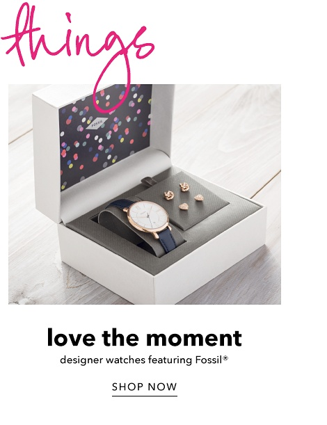 Love the Moment - Designer Watches featuring Fossil - Shop Now