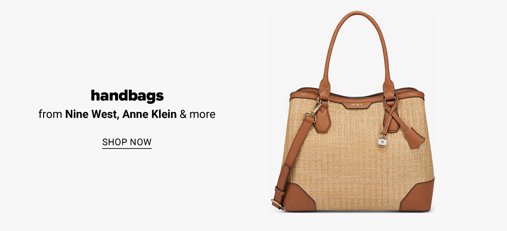A natural colored Nine West Brooklyn Carryall handbag. Handbags from Nine West, Anne Klein and more. Shop now.
