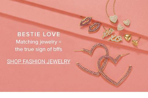 Bestie love. Matching jewelry = the true sign of bffs. Shop Fashion Jewelry.