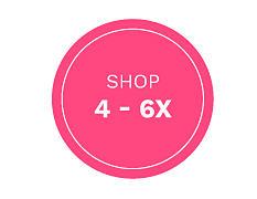 Shop girls size 4 through 6 X.
