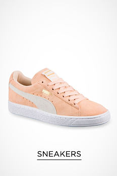 A peach & white women's sneaker. Sneakers. Shop now.