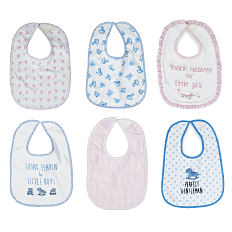 An assortment of bibs in a variety of colors, prints & styles. Shop essentials.
