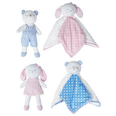 An assortment of stuffed animals in a variety of colors & styles. Shop nursery.