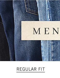 An assortment of men's jeans in a variety of colors & styles. Men's Denim. Shop regular fit.
