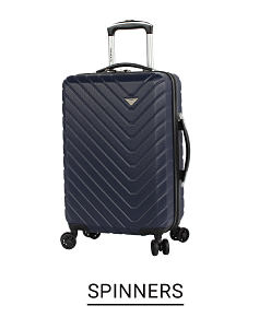 A hard body black spinner bag. Shop spinners.