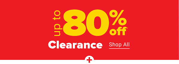 Up to 80% off clearance. Shop All.