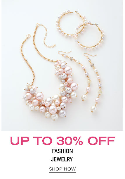 Faux pearl earrings, a faux pearl necklace & a faux pearl bracelet. Up to 30% off fashion jewelry. Shop now.