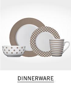 2 plates, a bowl and a coffee mug. Shop dinnerware.