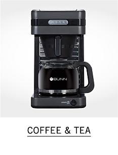 A coffee maker. Shop coffee and tea.