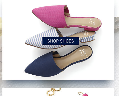 An assortment of women's shoes in a variety of colors & styles. Shop shoes.