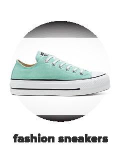 A teal, platform Converse sneaker. Fashion sneakers.