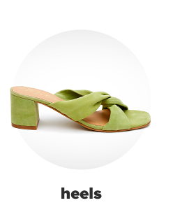 A light green heel with a knot accent. Heels.