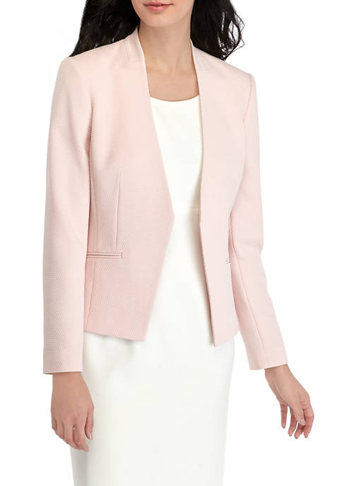 Calvin Klein Womens Asymmetric Novelty Jacket