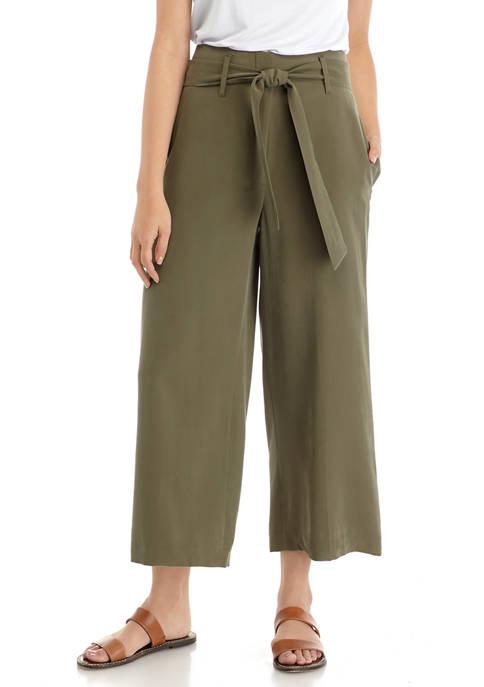 Calvin Klein Womens Tie Waist Pants