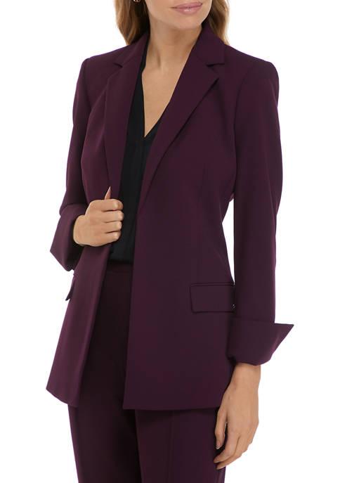 Calvin Klein Open Front Rolled Cuff Jacket